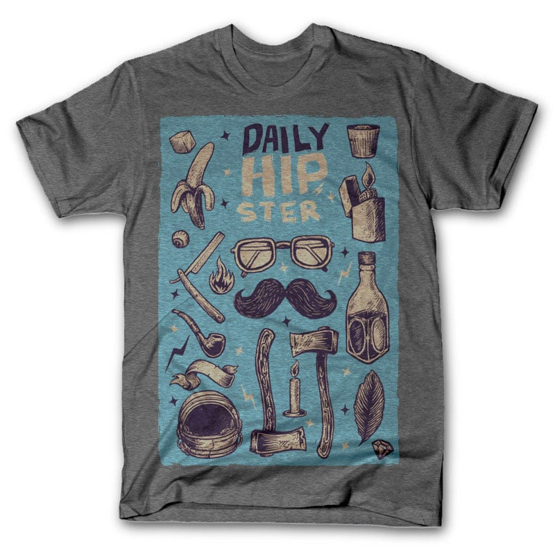 Hipster tshirt design t-shirt designs for merch by amazon