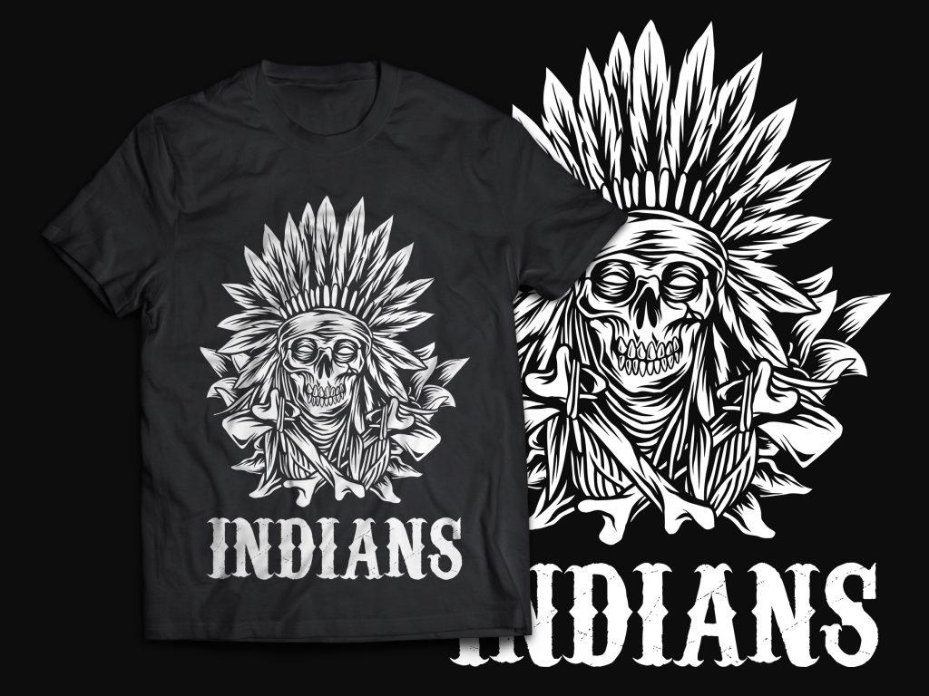 Native American T-Shirt Design t shirt designs for print on demand