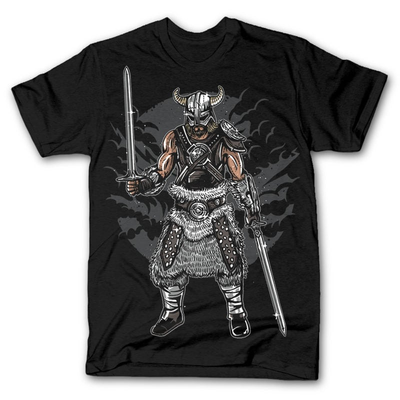 Dark Viking t shirt design tshirt factory