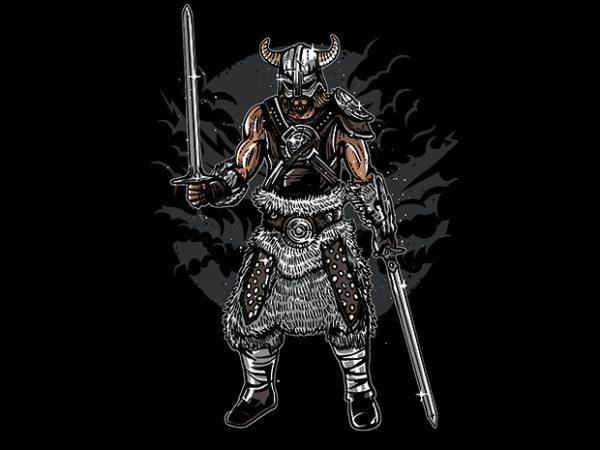 Dark Viking t shirt design