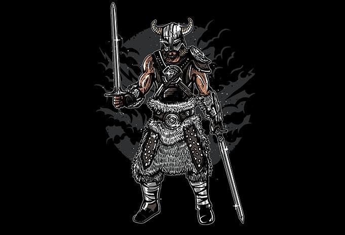 Dark Viking tshirt designs - Dark Viking t shirt design buy t shirt design