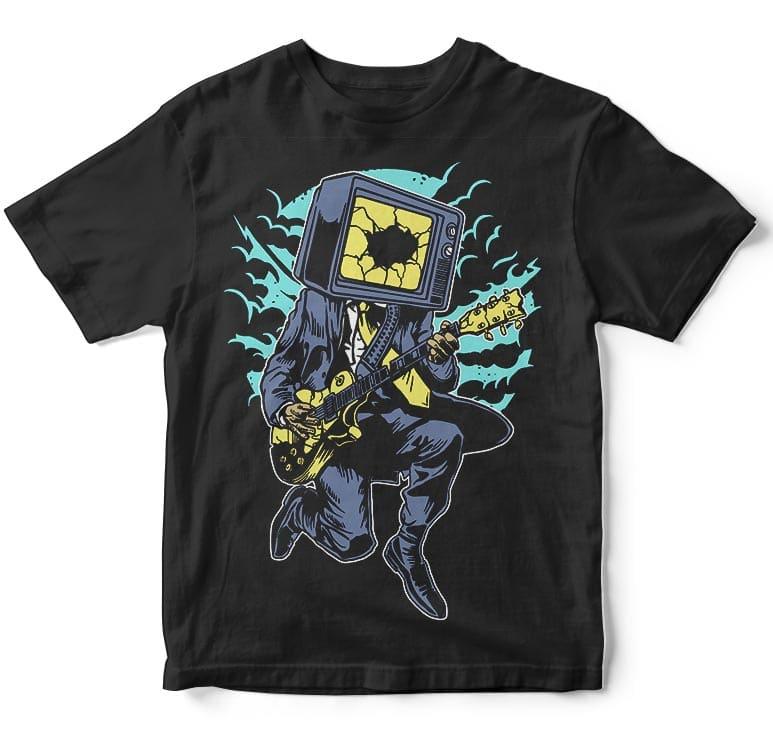 Death rock tshirt design buy t shirt designs vector t for Buy t shirt designs online