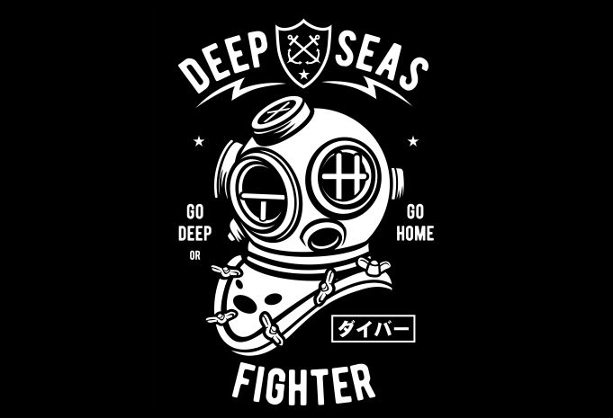 Deep Seas Fighter Display - Deep Seas Fighter buy t shirt design