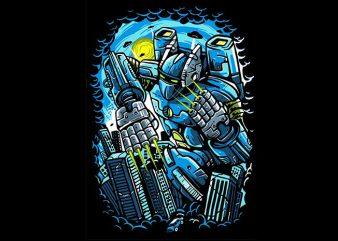 Destroy The City t shirt vector illustration