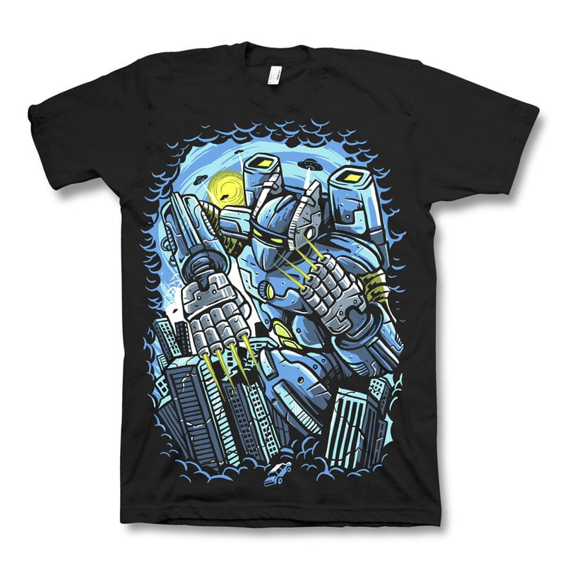 Destroy The City t shirt designs for printful