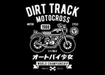 Dirt Track tshirt design for sale