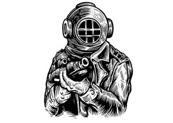 Diver Soldier t shirt design