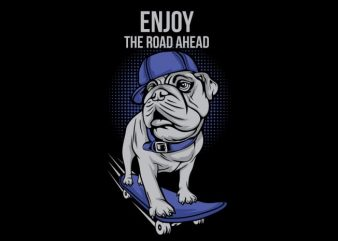 Dog Skates graphic t-shirt design