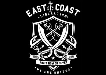 East Coast vector t shirt design for download