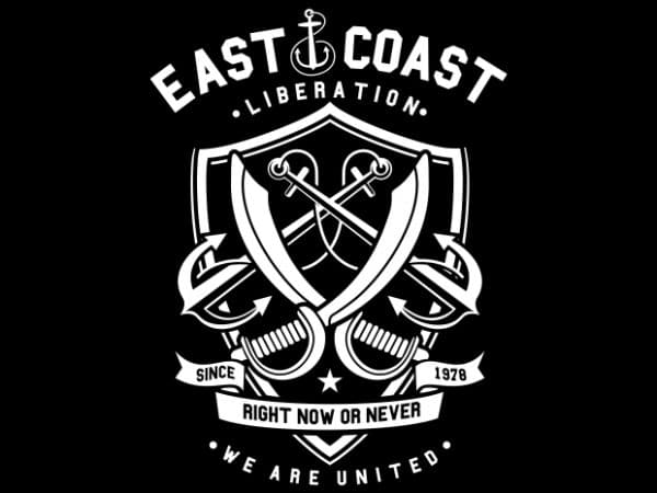 East Coast Anchor Display 600x450 - East Coast buy t shirt design