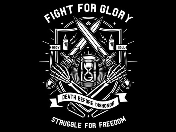 Fight For Glory tshirt design vector