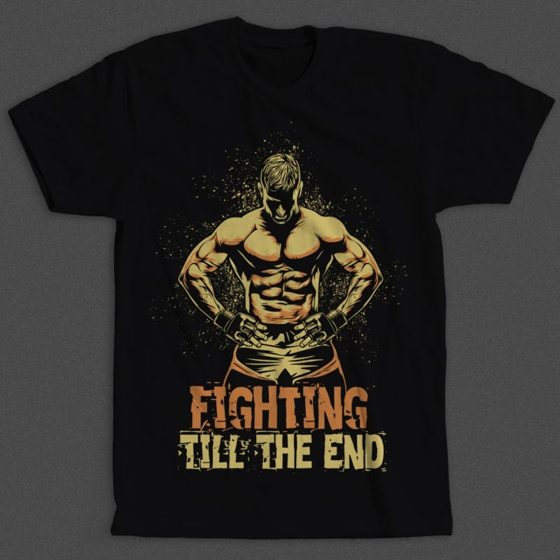 Fighter buy t shirt designs artwork