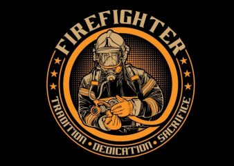 Fire Fighter t shirt graphic design