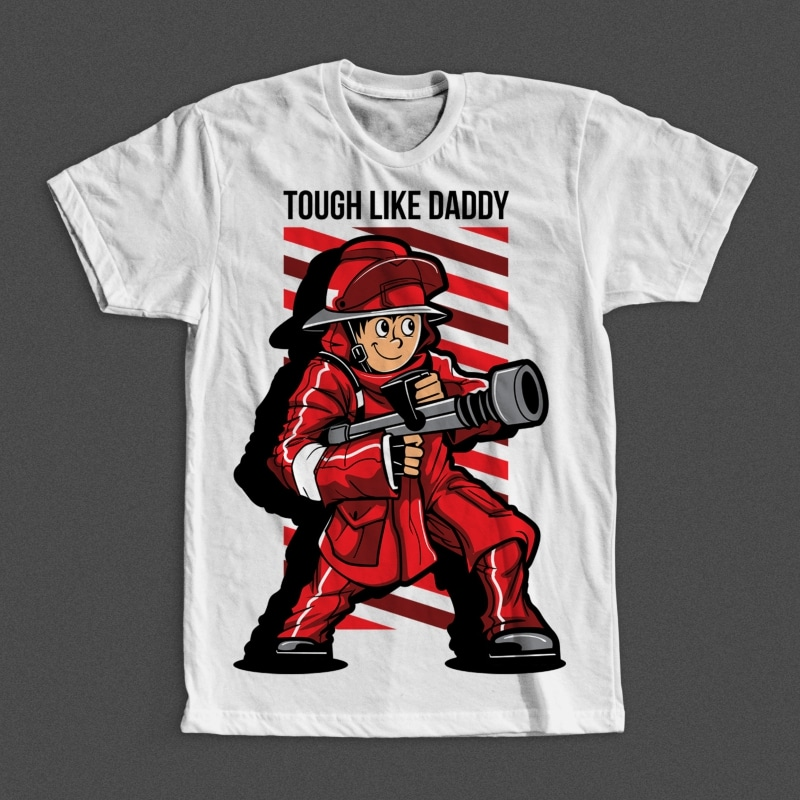 Fire Fighter Kid t shirt designs for teespring