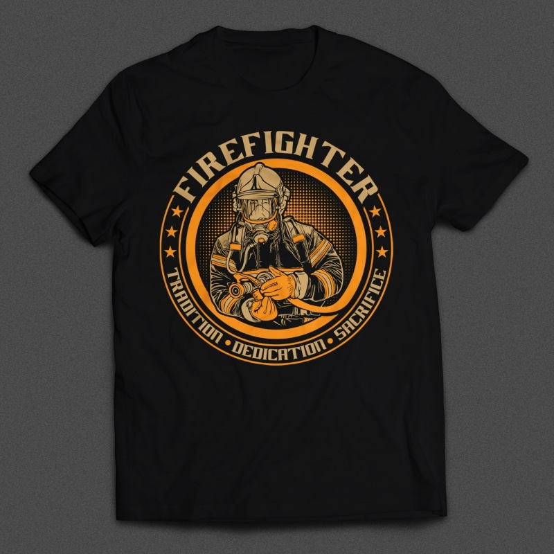 Fire Fighter t-shirt designs for merch by amazon