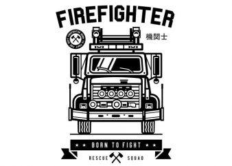 Firefighter vector t shirt design artwork