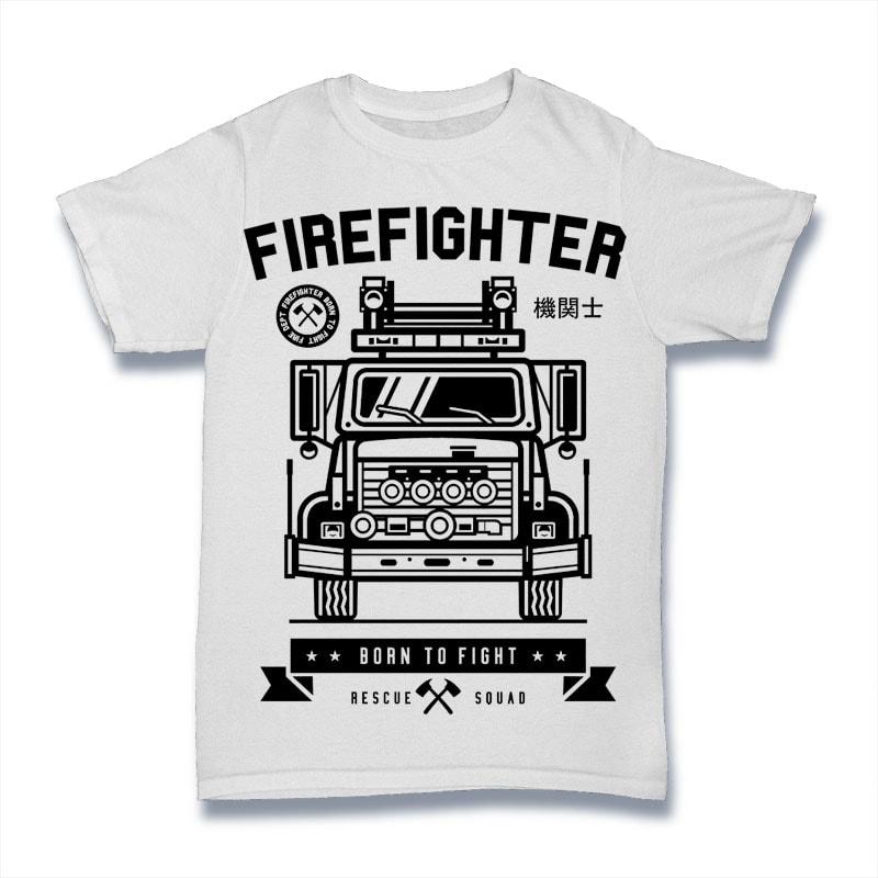 Firefighter Mockup - Firefighter buy t shirt design