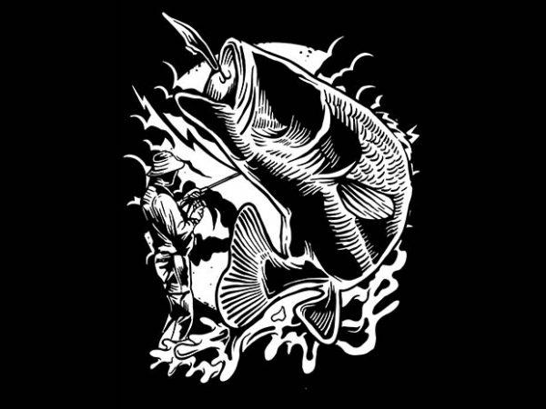 Fisherman tshirt design 600x450 - Fisherman tshirt design buy t shirt design