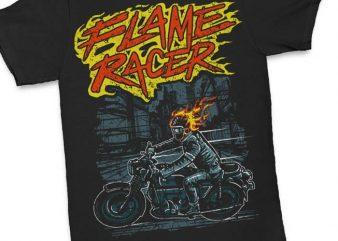 Flame Racer t shirt design