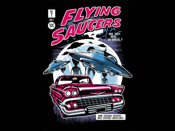 Flying Saucers tshirt design