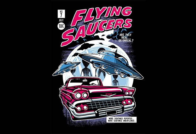 Flying Saucers tshirt design - Flying Saucers tshirt design buy t shirt design