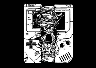 Gameboy Skull t shirt design