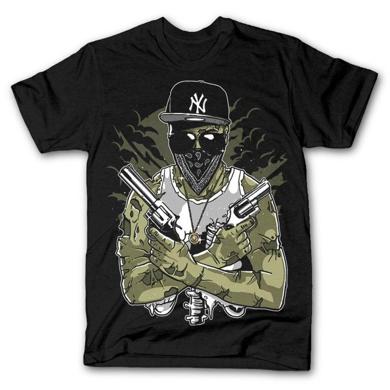 Gangsta zombie tshirt design buy t shirt designs for Buy t shirt designs online