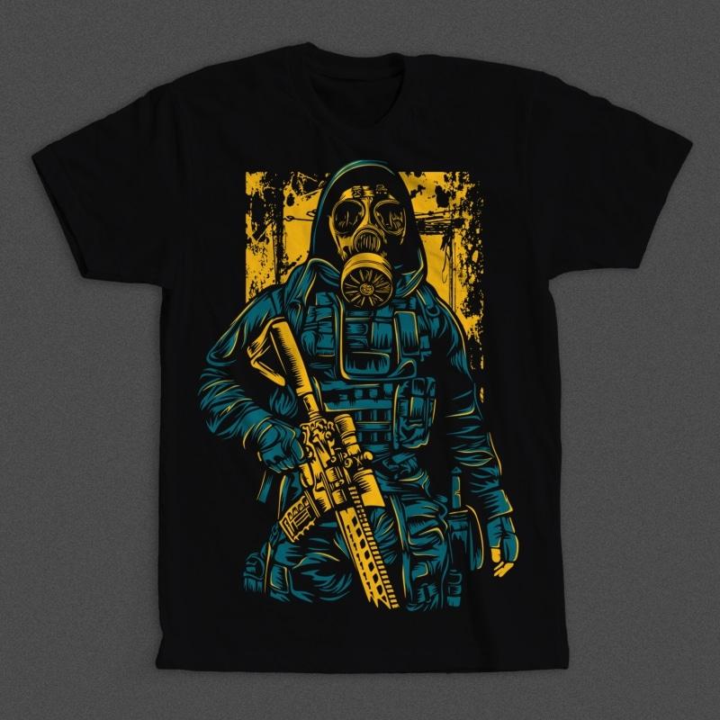 Gas Mask Soldier buy t shirt designs artwork