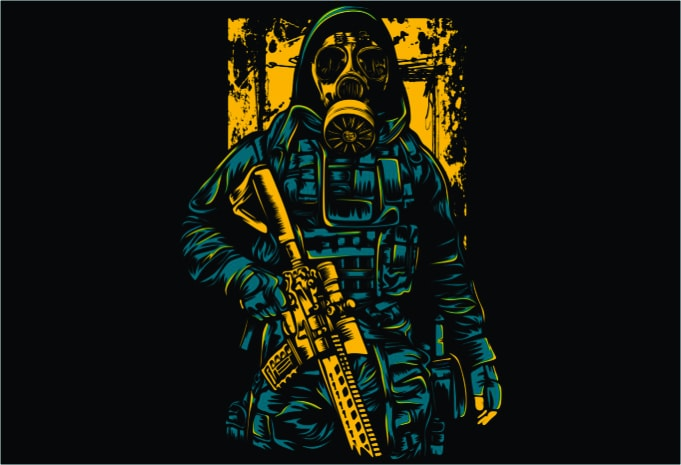 Gask Mask Soldier - Gas Mask Soldier buy t shirt design