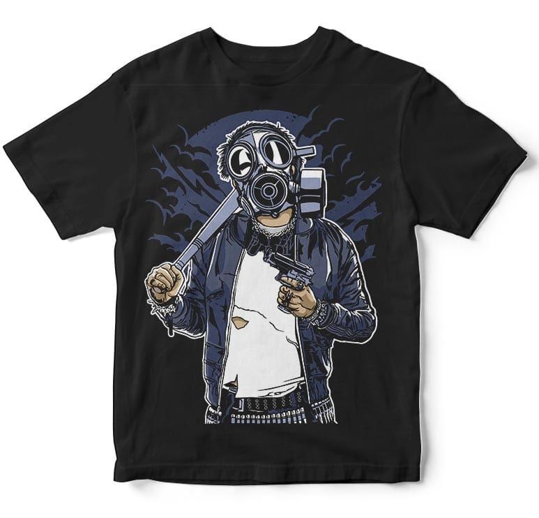 Gasmask Bastard commercial use t shirt designs