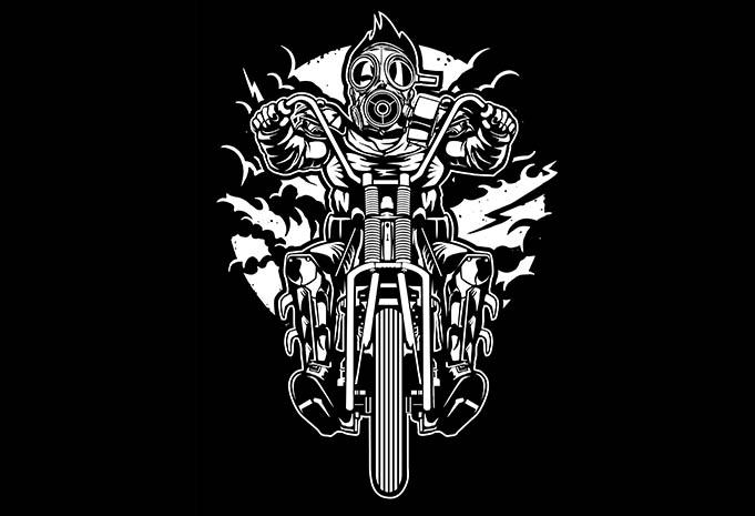 Gasmask Chopper tshirt design - Gasmask Chopper tshirt design buy t shirt design