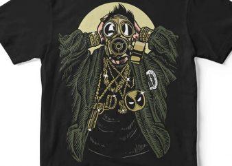 Gasmask Gangsta tshirt design