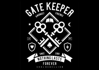 Gate Keeper vector t-shirt design for commercial use