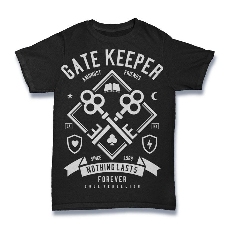 Gate Keeper t shirt designs for print on demand