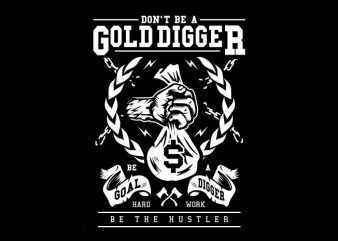 Gold Digger graphic t-shirt design