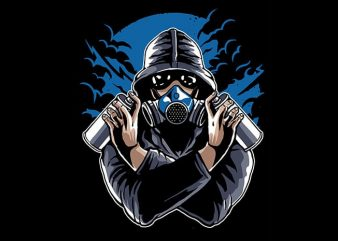 Graffiti Gasmask tshirt design