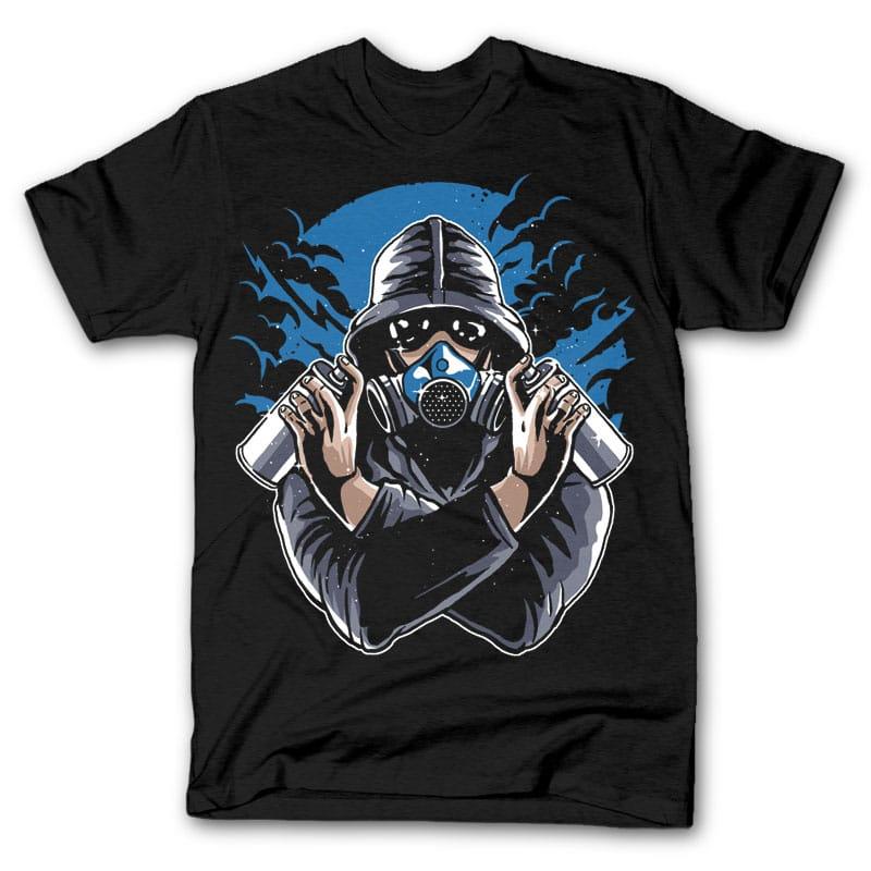 Graffiti Gasmask tshirt design t shirt designs for print on demand