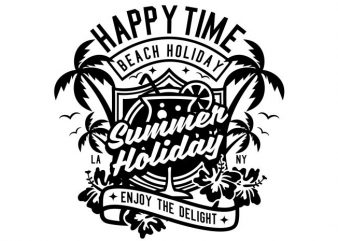 Happy Time graphic t shirt