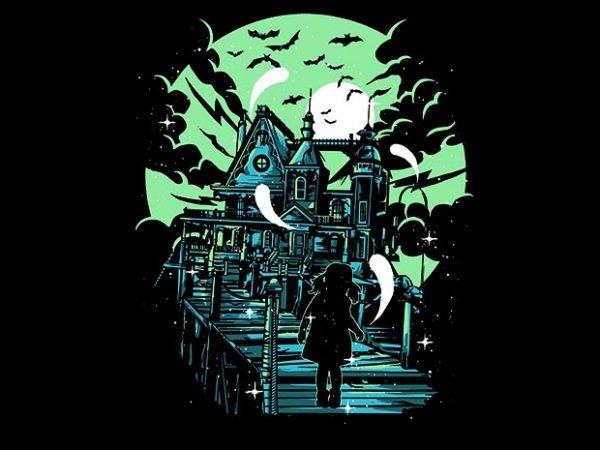 Haunted House tshirt design