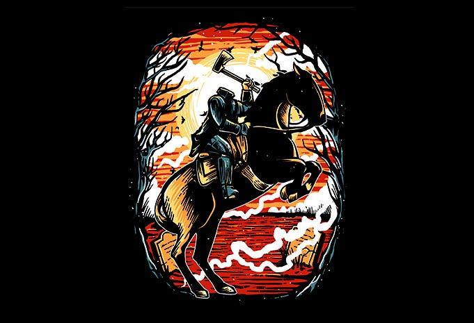 Headless Horseman tshirt design - Headless Horseman tshirt design buy t shirt design