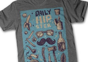 Hipster tshirt design
