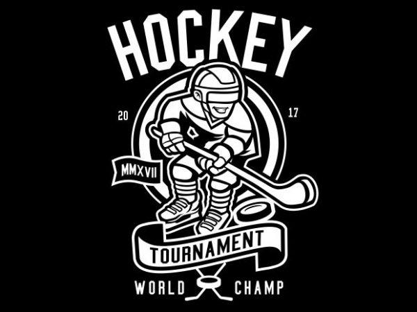 Hockey graphic t shirt