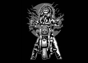 Indian Chief Motorcycle tshirt design