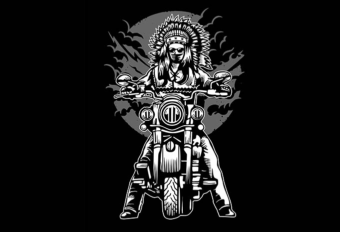 Indian Chief Motorcycle tshirt design - Indian Chief Motorcycle tshirt design buy t shirt design