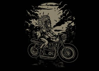 Indian Chief Rider tshirt design