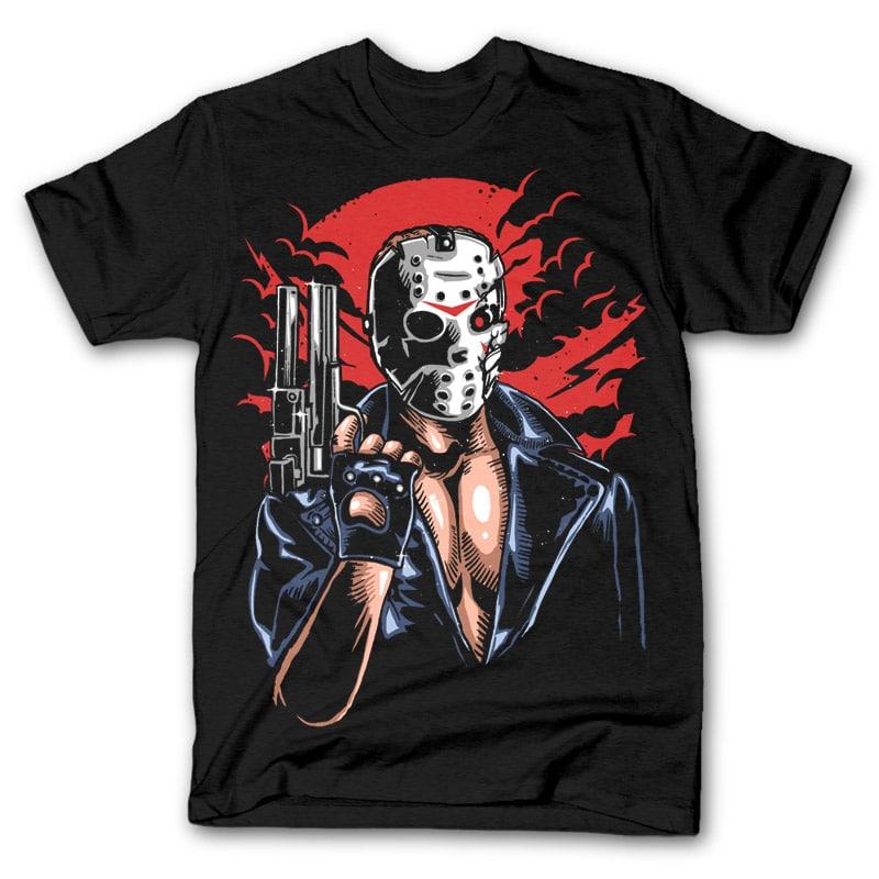 Jason Will Be Back tshirt design t shirt designs for sale