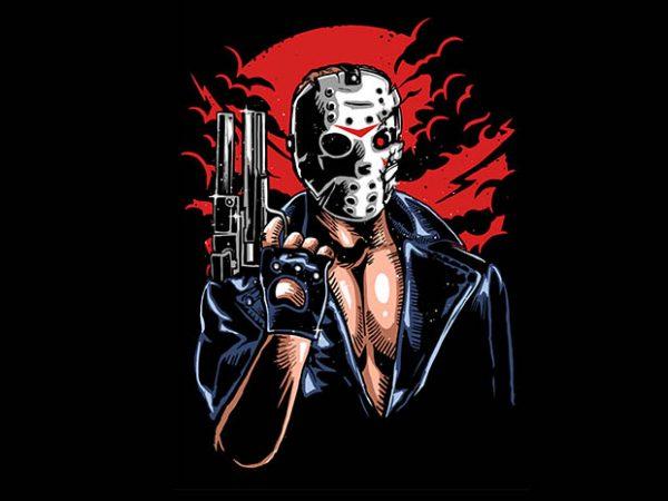 Jason Will Be Back tshirt design 600x450 - Jason Will Be Back tshirt design buy t shirt design