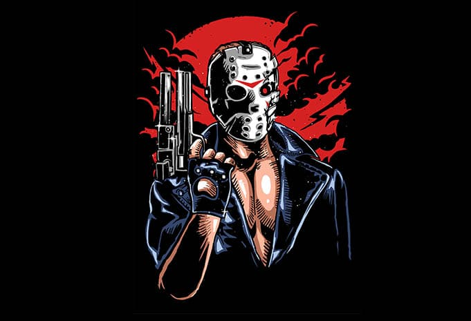 Jason Will Be Back tshirt design - Jason Will Be Back tshirt design buy t shirt design