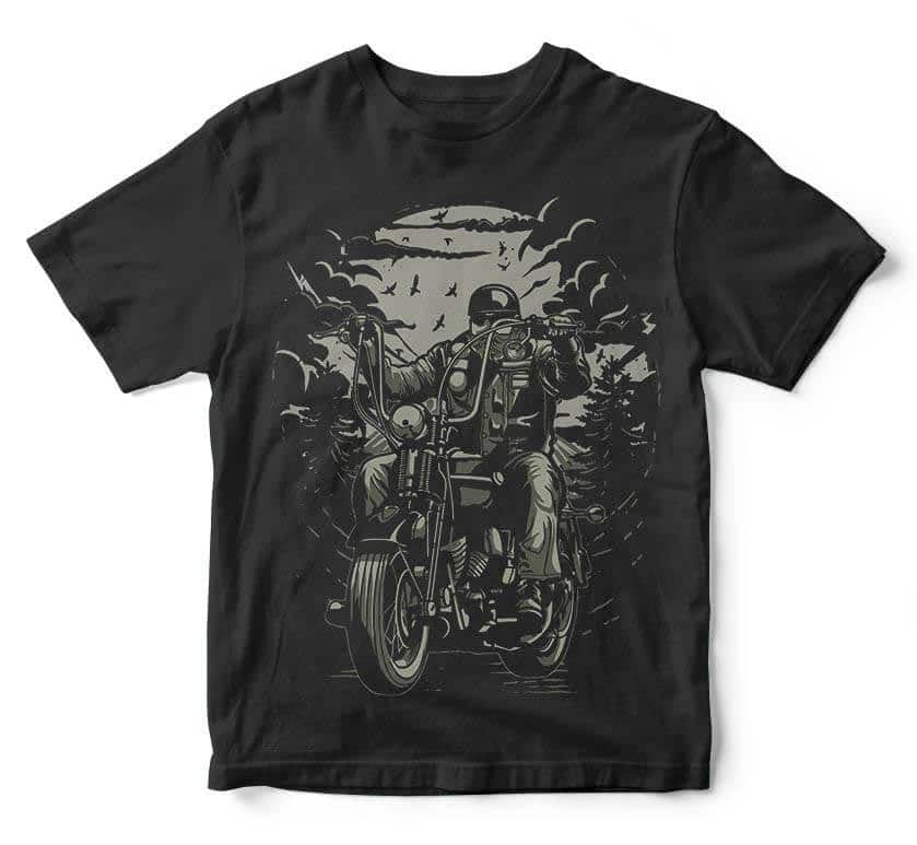 Live To Ride t shirt design t shirt designs for printify