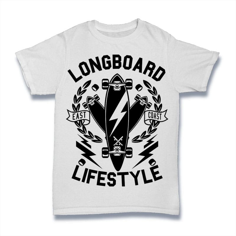 Longboard Lifestyle vector shirt designs